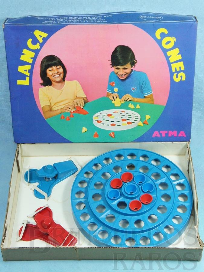 Brinquedo antigo Jogo Lança Cones Década de 1970