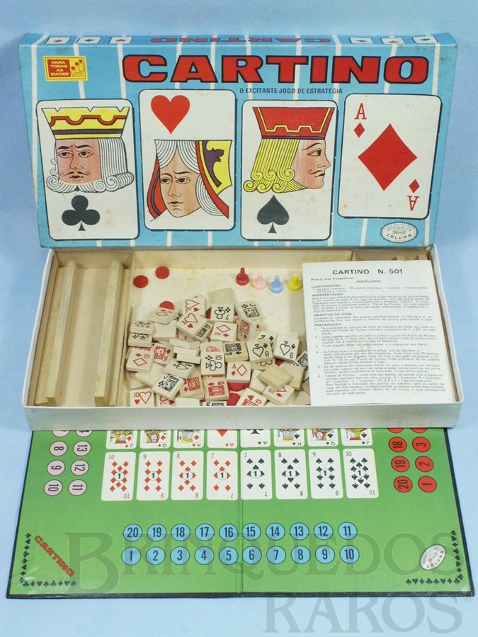 Brinquedo antigo Jogo Cartino o Excitante jogo de estratégia com pedras de madeira Década de 1960