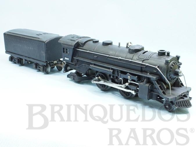Brinquedo antigo Locomotiva a Vapor 1664 com apito Ano 1938 a 1942