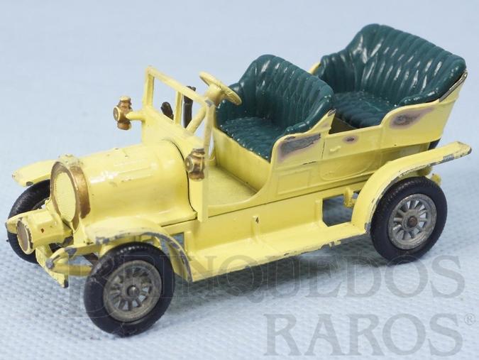 Brinquedo antigo 1904 Spyker Tourer Yesteryear amarelo claro Década de 1960