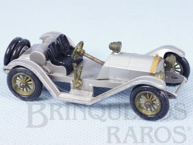 Brinquedo antigo 1913 Mercer Raceabout Yesteryear prata Década de 1960