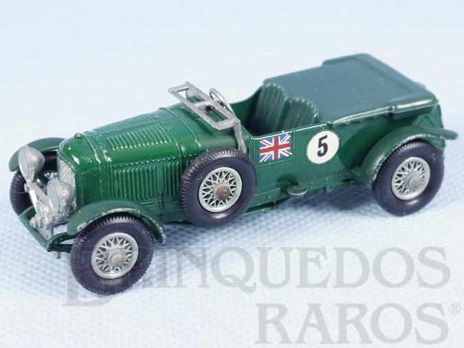 Brinquedo antigo 1929 Bentley 4.5 litre Banco verde Yesteryear