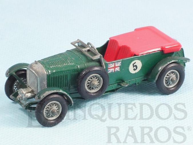 Brinquedo antigo 1929 Bentley 4.5 litre Banco vermelho Yesteryear