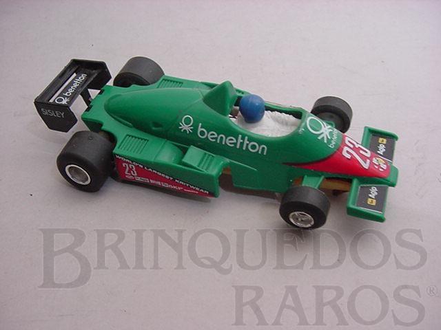 Brinquedo antigo Alfa Romeo Turbo Benetton Formula 1 Piloto Eddie Cheever Polistil Década de 1980