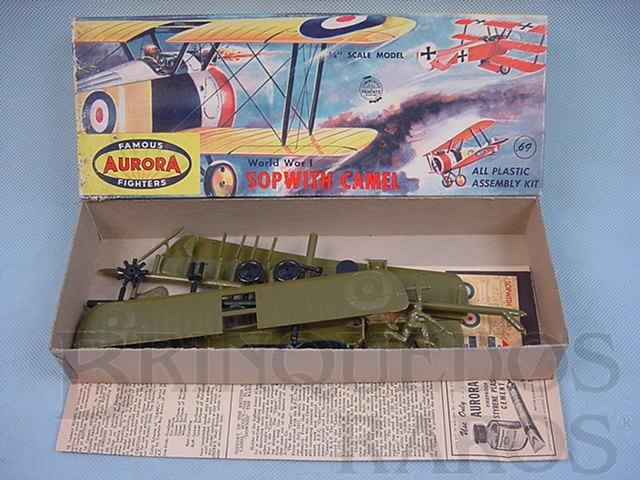 Brinquedo antigo Avião Sopwith Camel Década de 1960