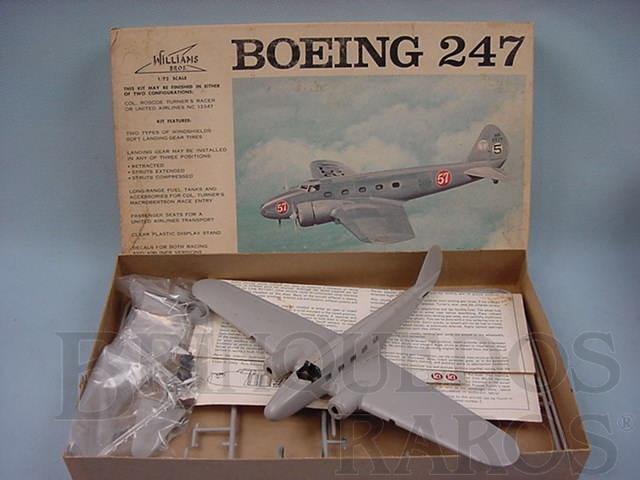 Brinquedo antigo Avião Boeing 247 parcialmente montado Década de 1960