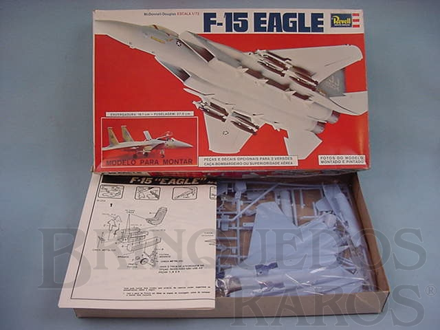 Brinquedo antigo Avião F-15 Eagle Caixa mole Década de 1980