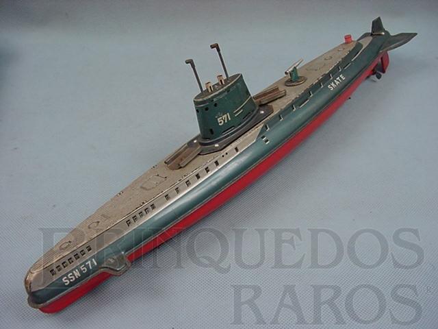 Brinquedo antigo Submarino Skate com 42,00 cm de comprimento Década de 1970