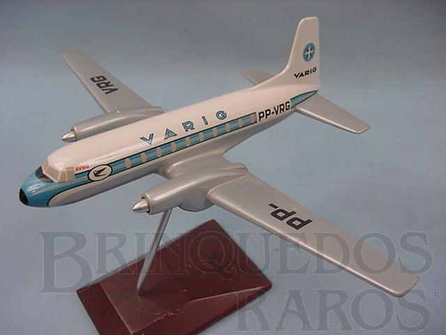 Brinquedo antigo Maquete do Avião Hawker Siddeley HS.748-235 Srs2 Avro da Varig