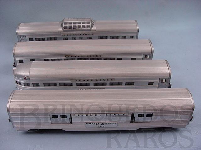 Brinquedo antigo Conjunto de quatro Carros de Passageiros de alumínio