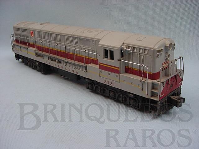 Brinquedo antigo Locomotiva Fairbank Morse Lackawanna cinza