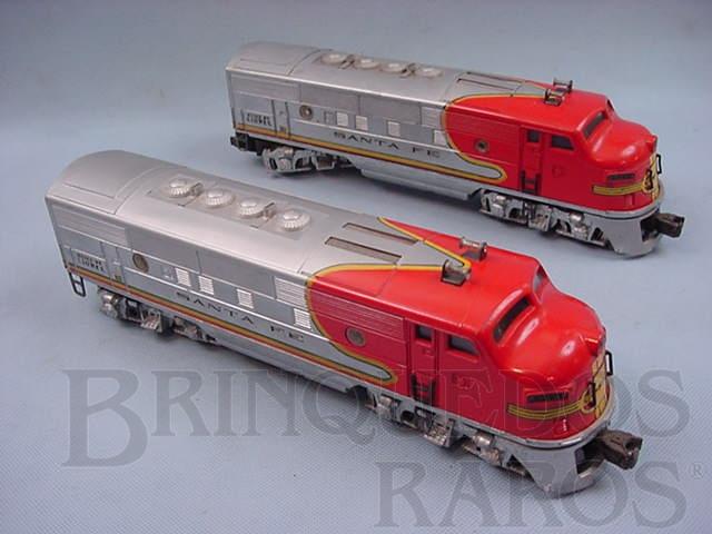 Brinquedo antigo Locomotiva diesel F3 AA Santa Fé