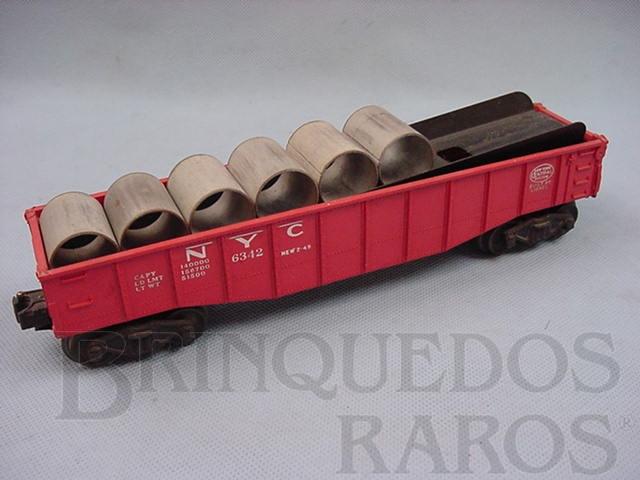 Brinquedo antigo Vagão 6342 NYC Gondola for Culvert Loader completo Ano 1956 a 1958