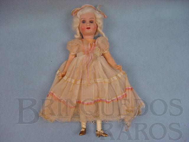 Brinquedo antigo Boneca com 23,00 cm de altura Rosto de Biscuit e corpo de Composition 100% original Década de 1920