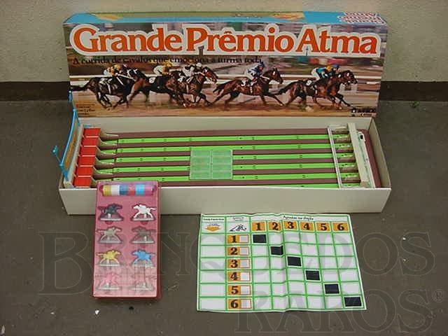 Brinquedo antigo Corrida de Cavalos Grande Premio Atma Caixa lacrada Década de 1970