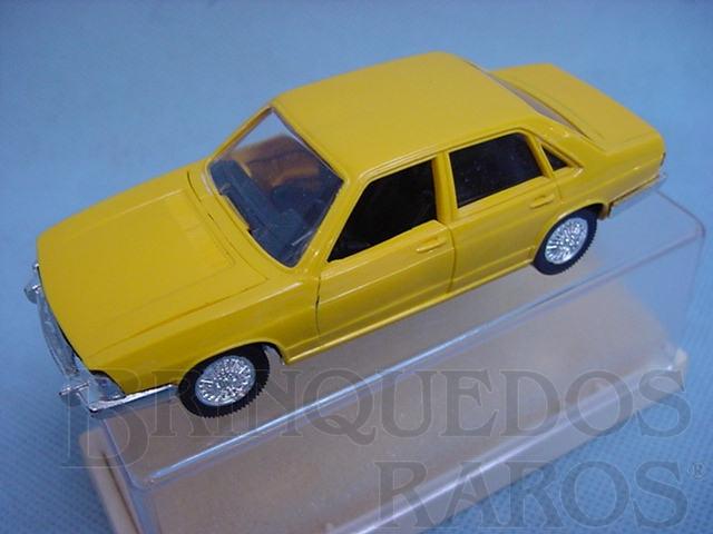 Brinquedo antigo Audi 100 amarelo injetado em plástico Brasilianische Schuco Rei