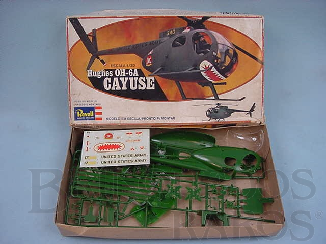 Brinquedo antigo Helicóptero Hughes OH-6A CAYUSE