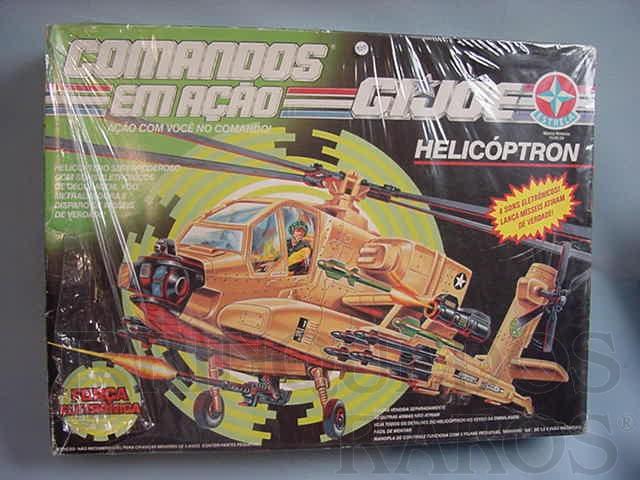 Brinquedo antigo Comandos em Ação Helicoptron lacrado