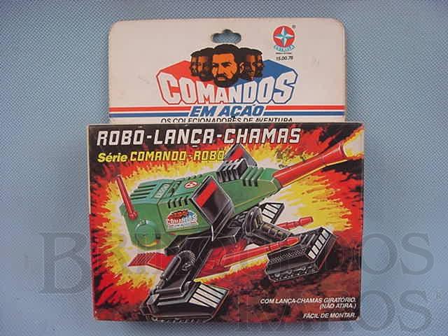 Brinquedo antigo Comandos em Ação Robo-Lança-Chamas lacrado