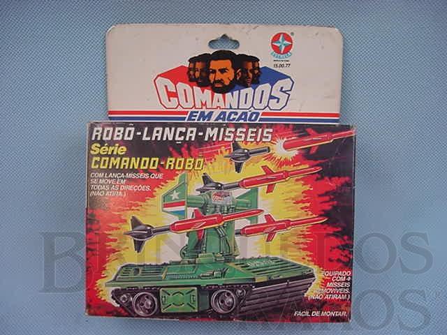 Brinquedo antigo Comandos em Ação Robo Lança Misseis lacrado