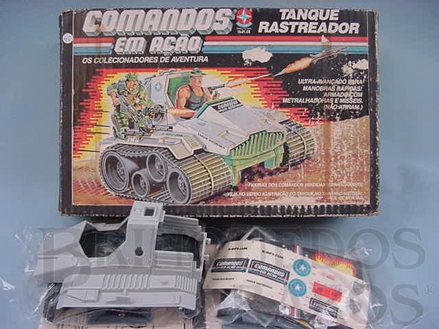 Brinquedo antigo Comandos em Ação Tanque Rastreador lacrado