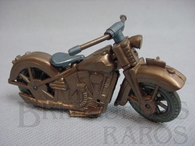 Brinquedo antigo Harley Davidson com 10,00 cm de comprimento Década de 1970