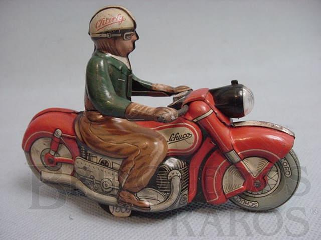 Brinquedo antigo Motocicleta Charly Made in US Zone Década de 1950