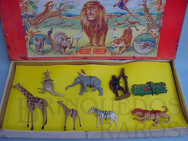 Brinquedo antigo Conjunto de Animais Selvagens com 8 figuras