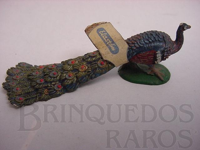 Brinquedo antigo Pavão com cauda abaixada