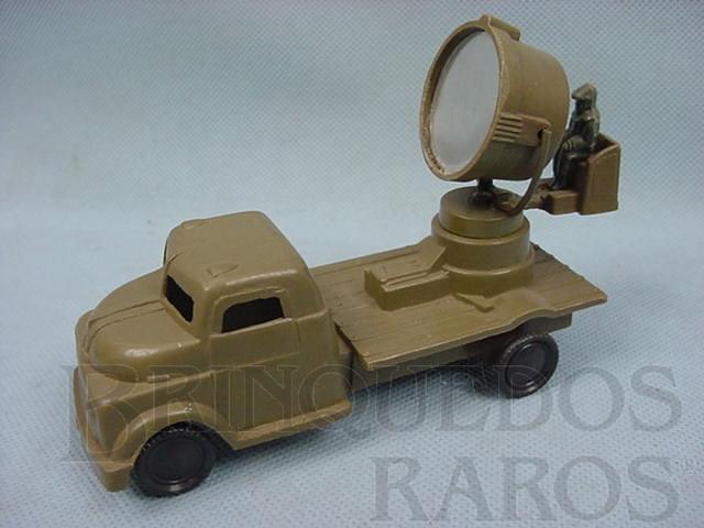 Brinquedo antigo Caminhão Militar Holofote do Exército Década de 1960
