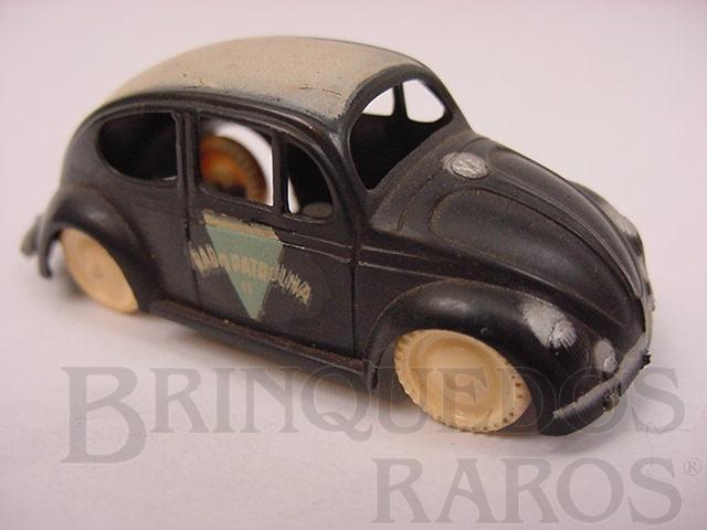 Brinquedo antigo Volkswagen Sedan com 6,00 cm de comprimento Rádio Patrulha Década de 1950