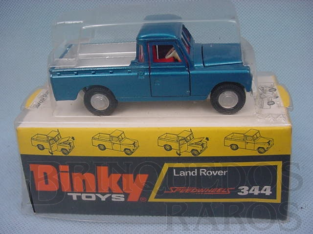Brinquedo antigo Land Rover Pick Up azul metálico Década de 1970