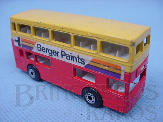 Brinquedo antigo The Londoner Superfast amarelo e vermelho Brazilian Matchbox Inbrima 1970