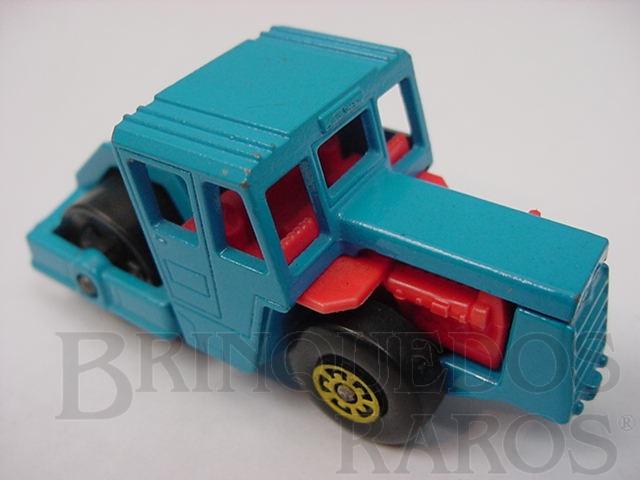 Brinquedo antigo Bomag Road Roller Superfast azul Brazilian Matchbox Inbrima 1970