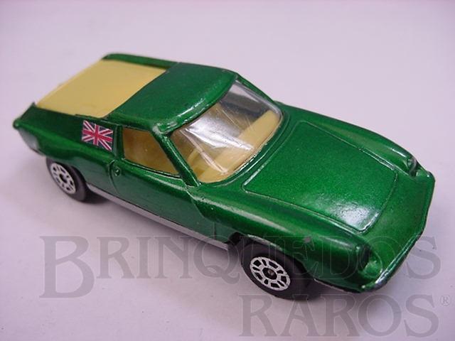 Brinquedo antigo Lotus Europa Corgi Jr Whizzwheels verde metálico