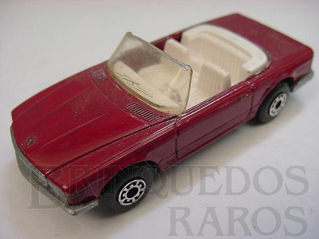Brinquedo antigo Mercedes Benz 350 SL Tourer Superfast vermelho escuro Brazilian Matchbox Inbrima 1980