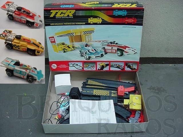 Brinquedo antigo Conjunto TCR completo com tres carros Década de 1980