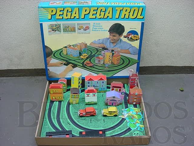 Brinquedo antigo Pega Pega Trol perfeito estado Completo terceira série Década de 1970