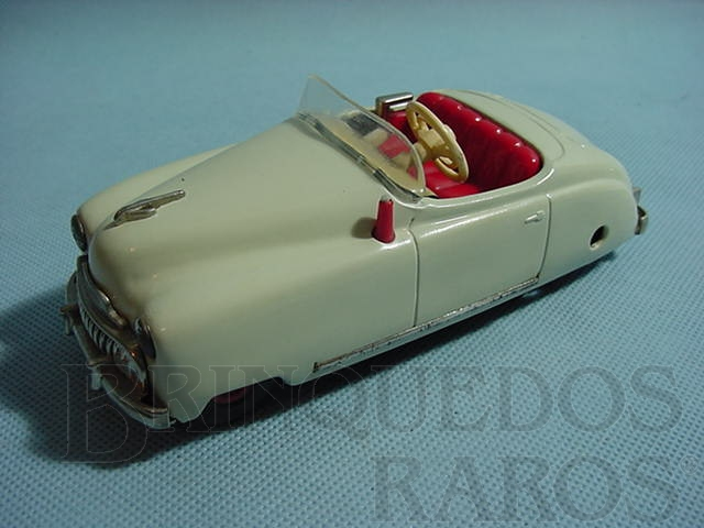 Brinquedo antigo Carro Radio Car com música branco Década de 1950