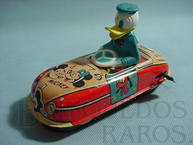 Brinquedo antigo Carro do Pato Donald Walt Disney Importado pela Estrela Ano 1956