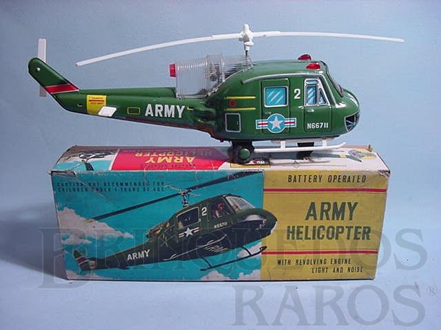 Brinquedo antigo Helicóptero Army Helicopter Década de 1970