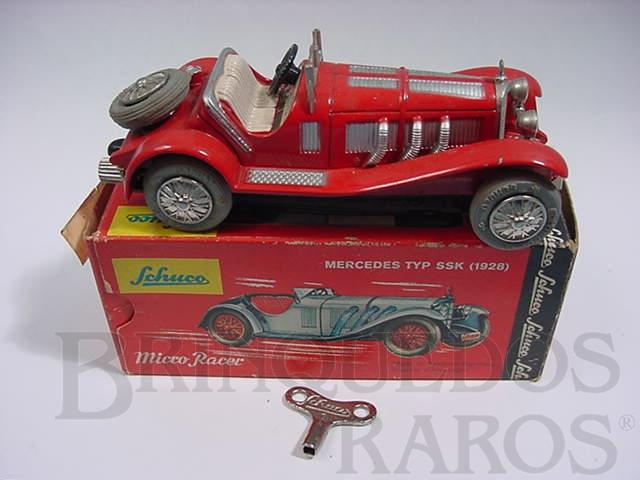 Brinquedo antigo Mercedes typ SSK 1929 vermelho Micro Racer Década de 1970