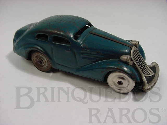 Brinquedo antigo Sedan Patente azul Made in US Zone Década de 1950