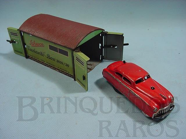 Brinquedo antigo Carro Varianto Limo vermelho Com garagem 3010/30 Made in US Zone Década de 1950