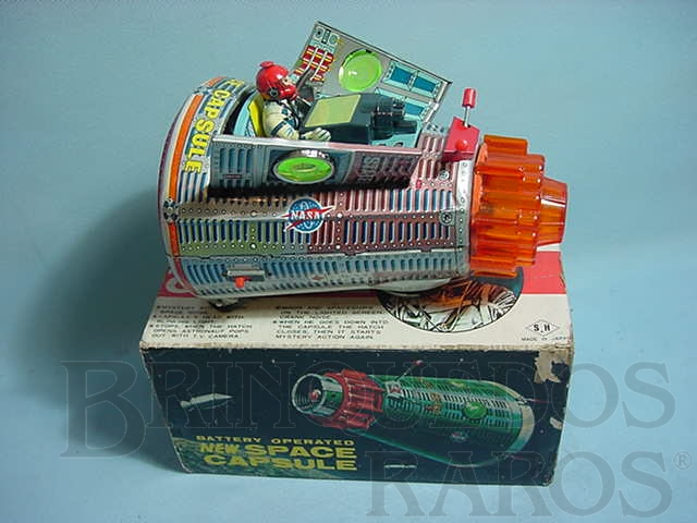 Brinquedo antigo Nave espacial New Space Capsule Década de 1960