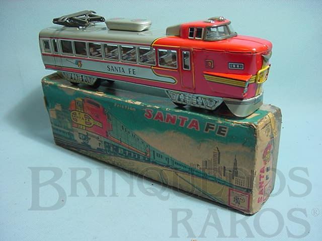 Brinquedo antigo Locomotiva Santa Fé com 25,00 cm de comprimento Década de 1960
