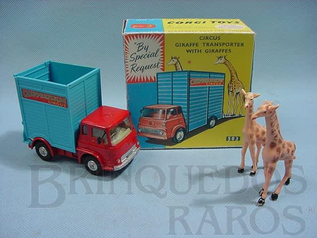 Brinquedo antigo Circo Chipperfields Giraffe Transporter completo. Década de 1960