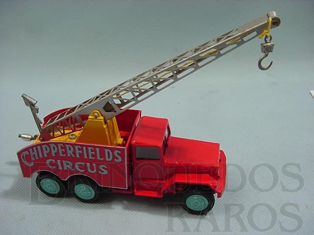 Brinquedo antigo Circo Chipperfields Crane Truck Década de 1960