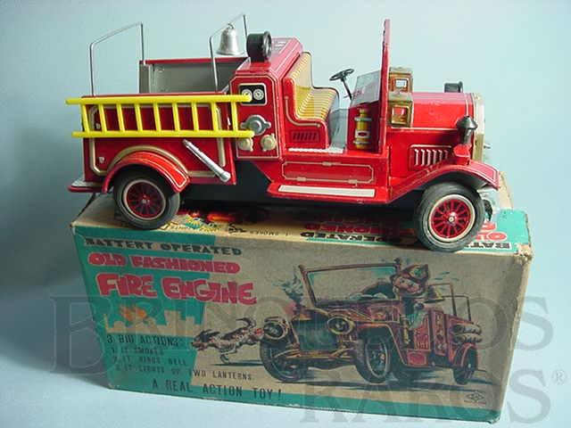Brinquedo antigo Caminhão de Bombeiro Old Fashioned Fire Engine