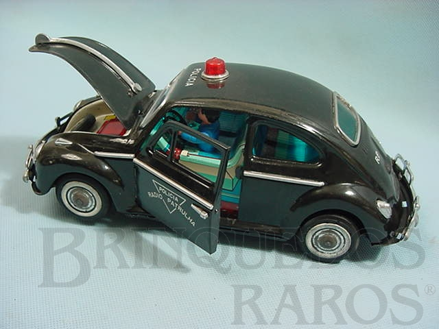 Brinquedo antigo Volkswagen Sedan com 26,00 cm de comprimento Radio Patrulha Década de 1960